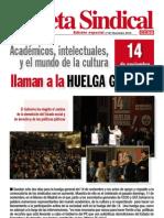 El Mundo de La Cultura Llama a La Huelga General