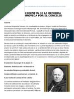 ALGUNOS ANTECEDENTES DE LA REFORMA LITÚRGICA PROMOVIDA POR EL CONCILIO VATICANO II