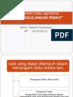 Manajemen risiko agribisnis