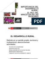 6 Importancia Del Desarrollo Rural MINCETUR Por Sra M Burns