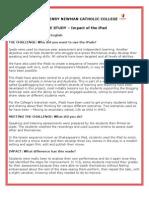 JHNCC English iPad case study