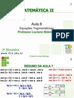 PDF 2c2baano Aula 8 Equacoes Trigonometricas
