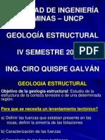 CURSO GEOLOGIA ESTRUCTURAL 2011-1