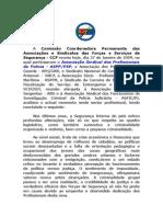 A Comissão Coordenadora Permanente Das Associações e Sindicatos Das Forças e Serviços de Segurança