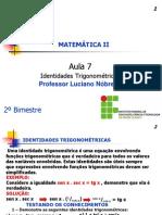 PDF 2c2ba Ano Aula 7 Identidades Trigonometricas