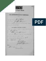 Marriage Bond for W.J. Wells and Mary Cordelia Stirsman.