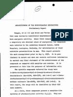 Addictiveness of Two Benzimidazole Derivatives Preliminary Report (May 1959) - H Isbell - 01 May 1959 May 1 1959 05-01-1959 - Etonitazene Clonitazene - Addiction Research Center ARC USPHS Hosptial Lexington KY - ETONITAZENE SYNTHESIS ADDICTION CLONITAZENE OPIOIDS OPIATES MORPHINE HEROIN DRUGS