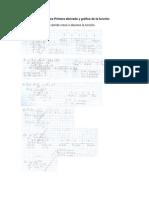 Ejercicios Primera derivada y gráfica de la función