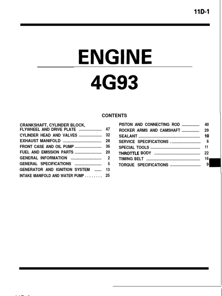 4g93 Lancer Engine | Internal Combustion Engine | Throttle