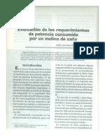 Evaluación de los requerimientos de potencia consumida por un molino de caña.pdf