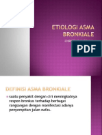 Etiologi Asma Bronkiale