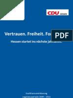 Koalitionsvereinbarung CDU FDP HESSEN