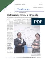Preeti Sharma Article in Spanish News Paper