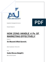 Zong Marketing Report