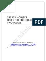 Doc CSErecord SEM-3 141303 - OOPS2Marks