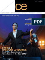 Darryl Lovegrove Entertainer of the Year 2012
