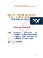 CDSCO Draft guidelines