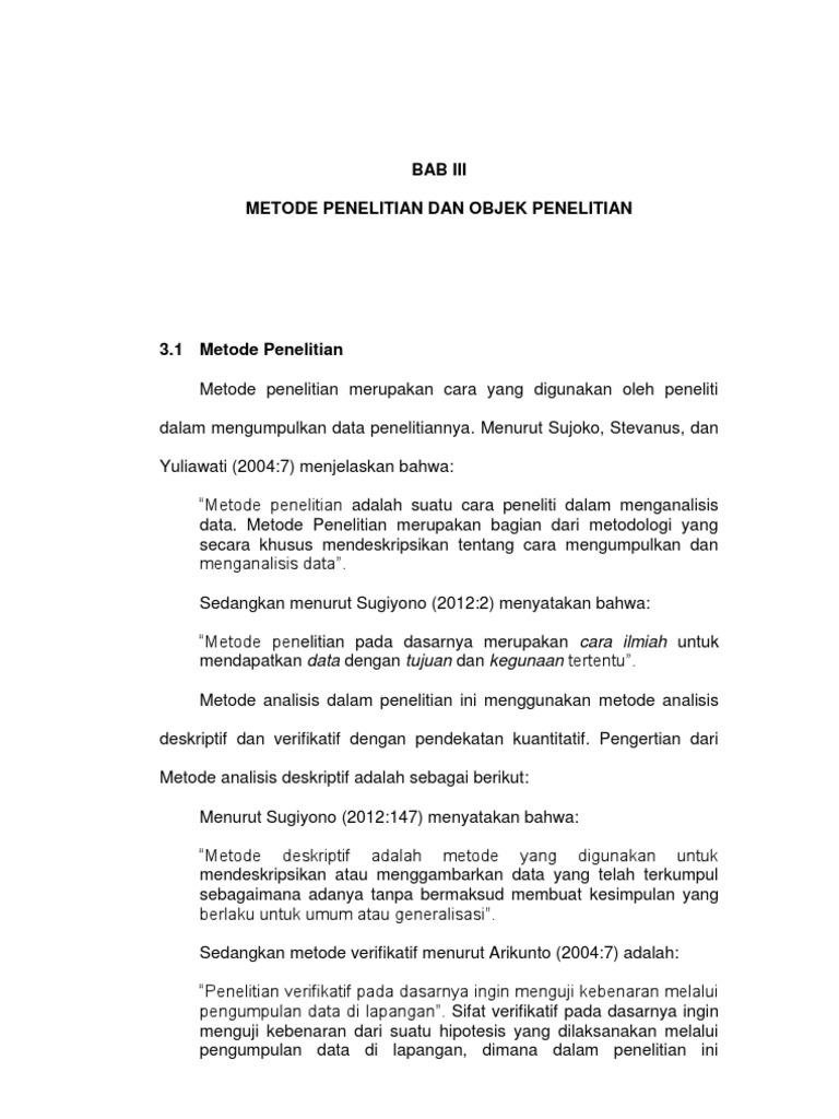 Skripsi Pengaruh Pajak Bab Iii Revisi Docx