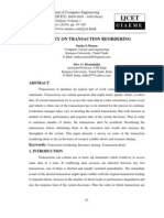 Survey on Transaction Reordering