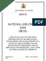 Proposed Nigeria National Health Bill 2008