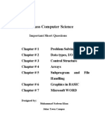 Notes For Computer Science 10th Class BISE