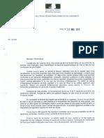 La lettre de Cécile Duflot à l'archevêché de Paris