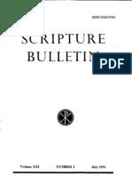 Scripture Bulletin Nr. 2-July 1991
