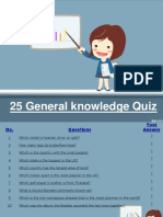 25 General Knowledge Quiz