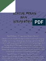 12.Status, Peran & Kelas Sosial