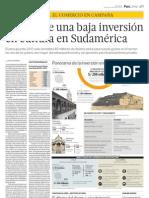Perú tiene una baja inversión en cultura en Sudamérica