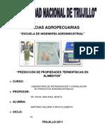 Propiedades termofísicas de los Alimentos