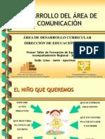 DESARROLLO DEL ÀREA DE COMUNICACIÓN abril 2009
