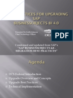 Best Practices for Upgrading to SAP BI 4.0