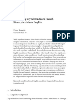 Translating asyndeton from French literary texts into English