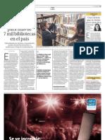 Solo hay 410 bibliotecólogos para más de 7 mil bibliotecas del país