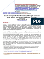 Elastic Composite, Reinforced Lightweight Concrete (ECRLC) as a type of Resilient Composite Systems (RCS) [http://arxiv.org/abs/1510.03933]