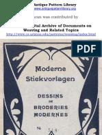 H.K. Berlin.  Moderne Stickvorlagen 548, Dessins de Broderies Modernes Berlin, [c. 1900], selected pages.