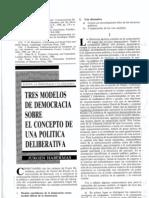 Habermas, Tres Modelos de Democracia