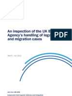 An inspection of the UK Border Agency's handling of legacy asylum and migration cases