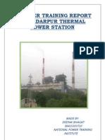 Summer Training Report Ntpc Badarpur