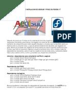 Compilacion e instalación de aegisub en Fedora 17
