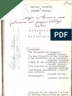 Cayetano Betancur, Filosofía y metafísica Tres Ensayos Entorno a Una Polémica Con Joaquín Vallejo (1935 y 36)