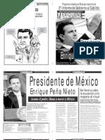 Versión impresa del periódico El mexiquense 3 de diciembre 2012