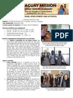 Mission Report - Nov 2012