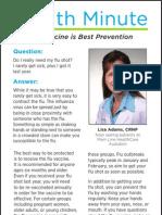 Flu vaccine is best prevention