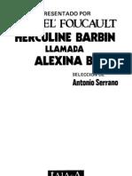 Herculine Barbin Llamada Alexina B. Michel Foucault, 1978