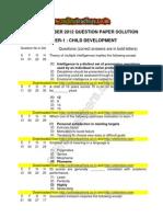 Ctet November 2012 Paper 1 Complete