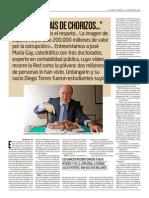 """""""Éste es un país de chorizos"""" José María Gay de Liébana - El Mundo"""