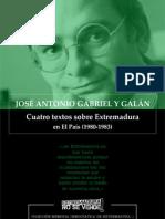 José Antonio Gabriel y Galán, Cuatro textos sobre Extremadura en El País (1980-1983)