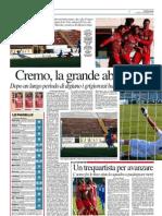 La Provincia Di Cremona 03-12-2012 - Calcio Lega Pro